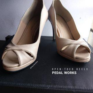 Pedal Works Open-toed Heels