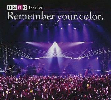 🚚 Remember your color.初回生産限定盤 Nano /ナノ