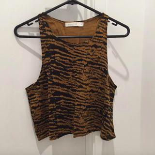 Minkpink Tiger Pattern Crop Top (Aus Size XS)