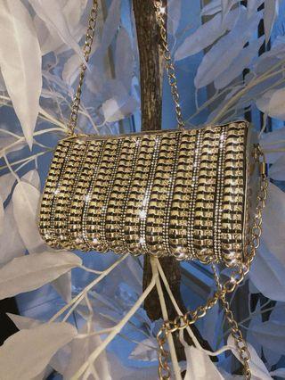Gold Diamond clutch