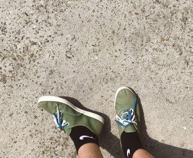 🚚 (絕版品)Keds綠色平底鞋