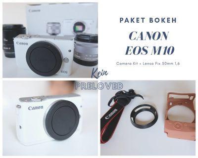 Kamera mirrorless Canon M10 + lensa fix!