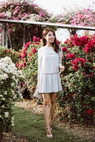 Thread Theory Dandelion Story Dress (Light Grey)