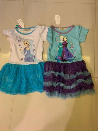 Offer !! 2 for $9.80 !! Frozen dress for age 2-4 yrs old