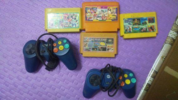 vintage game (joystik + cartrige/cassete/kaset)