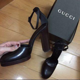 🚚 Gucci 正品 黑色綁帶高跟鞋 #半價衣服拍賣會