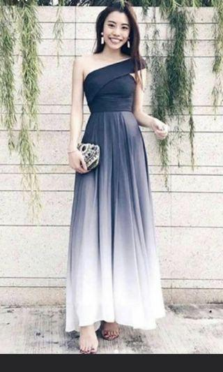 Theory of Seven TO7 Ombre Toga Dress in Grey S