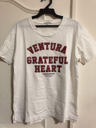 Global Work字母T shirt