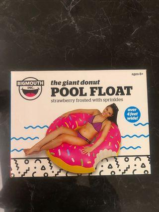Pool Float Floater Strawberry Frosted Donut
