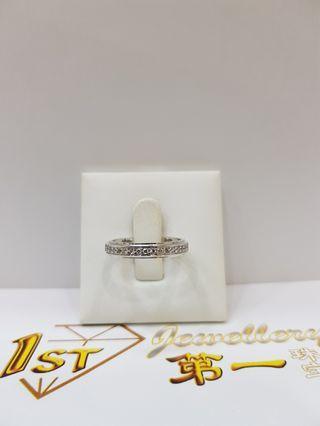 18K WHITE GOLF DIAMOND RING
