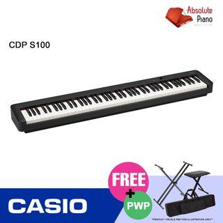 Casio Music Sale @ Viva Business Park! Casio Contemporary Digital Piano CDP-S100 - 88 Weighted Keys