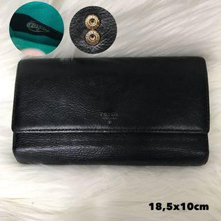 🚚 Fossil Trifold Wallet Black