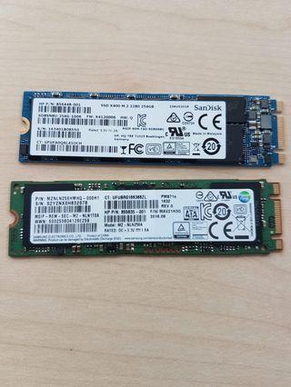 M.2 SSD 256GB Samsung Sandisk liteon Brand's each $57