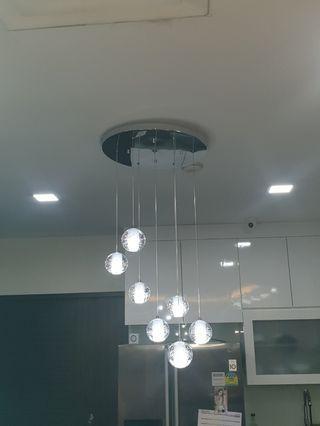 LED Crystal Ball Hanging Light