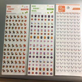 Korean One Point Seal Stickers