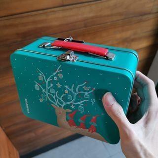 Starbucks Christmas Lunch box Tin Can - original Rare kotak makan