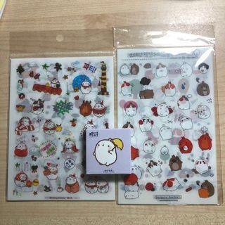 [SALE] Molang Rabbit Sticker Grabbag + 1 free sticker set