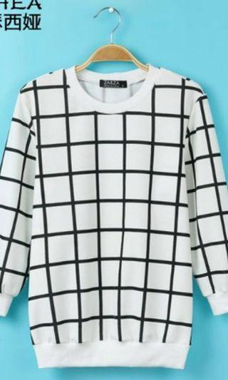grid pullover !! 🧚🏼♀️
