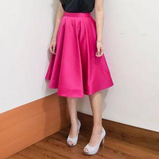 Taffeta Flare Party Skirt - Rok Pesta Flare