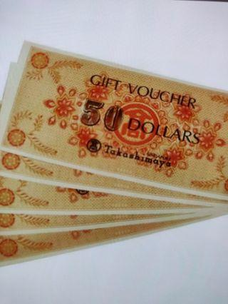 700 worth Takashimaya voucher