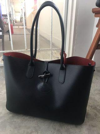 65ffefc59ee longchamp leather tote | Bags & Wallets | Carousell Singapore