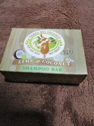 Brand New Tierra Mia Organics, Raw Goat Milk Skin Therapy, Shampoo Bar, Lime in Coconut 3.8oz