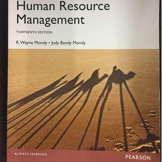 HUMAN RESOURCE MANAGEMENT. MONDY. 13TH ED