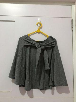 Grey Flare Skirt