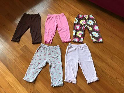 🚚 Carters baby girl pants 18m