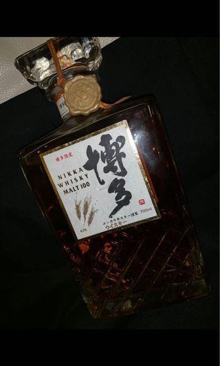 極具收藏價值博多限定Nikka Whisky Malt 100