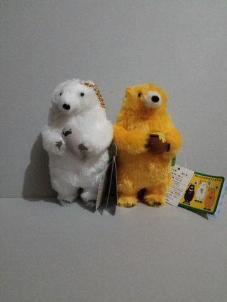 白熊&黄色熊熊 公仔