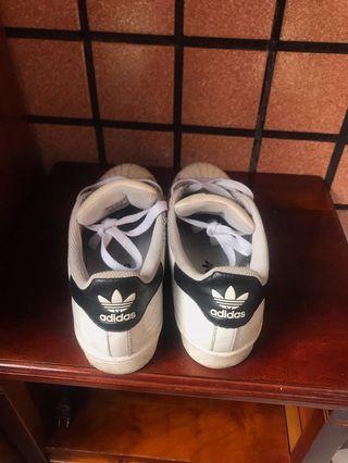 愛迪達 貝殼鞋 黑白基本款