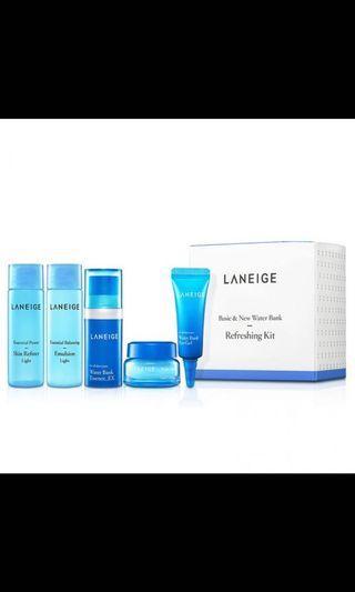 🚚 Laneige Water Bank Moisture Kit (5items)