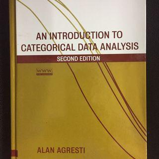 AN INTRO TO CATEGORICAL DATA ANALYSIS. AGRESTI. 2ND ED