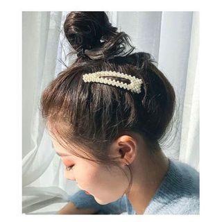 Jepit mutiara klip panjang besar barrette hair clip