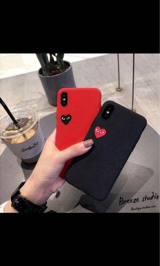 Comme does garcons play heart iphone casing