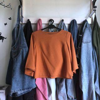 Burnt Orange Blouse (incl pos!) #APR75