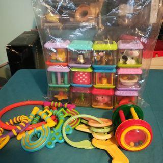 Baby's Teething Twelve Toy Blocks