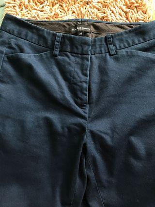 The Executive Skinny Pants Navy Blue Size 26