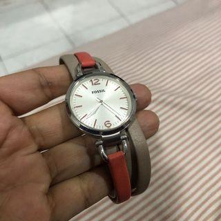 Fossil women triple leather strap