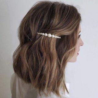 Jepit mutiara besar kecil barrette hair pin