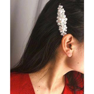 Jepit mutiara bunga besar barrette hair pin