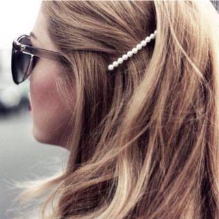 Jepit mutiara barrette hair pin kecil