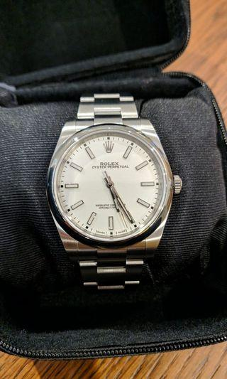 Rolex Oyster Perpetual 39 mm White Dial