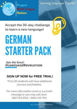 LEARN GERMAN! Avail our Online German Starter Pack!!