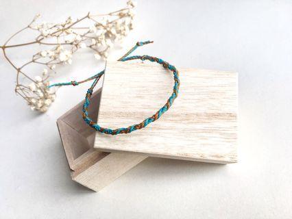巴西蠟繩編織手繩- 兩輪