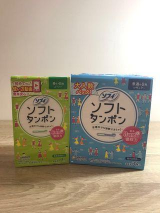 🚚 日本買回的蘇菲棉條(普通34入/量多9入)送8條散裝