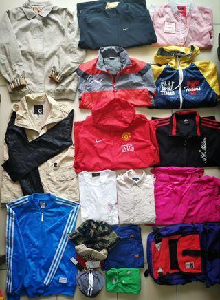 Sweater, jacket, cap, bag