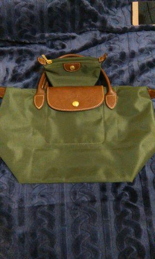 🚚 [買一送一]正品Longchamp短把小手提包送同色正品零錢包