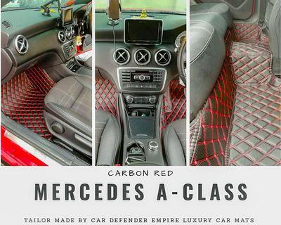 Tailor made luxury car mats for Mercedes A-Class w176